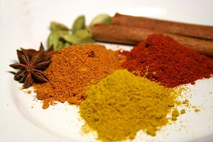 Spices increase flavor in healthy meals